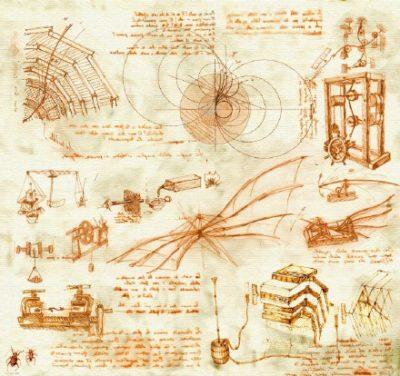 mapa mental de Leonardo Da Vincci