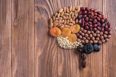 ilustração de cerebro formado por cementes e grãos