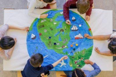 mapa pessoal feito por crianças