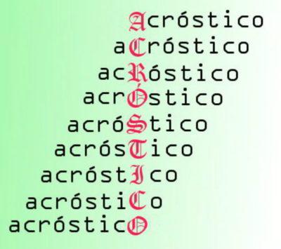 Crie uma Frase Usando a Primeira Letra das Palavras-Chave