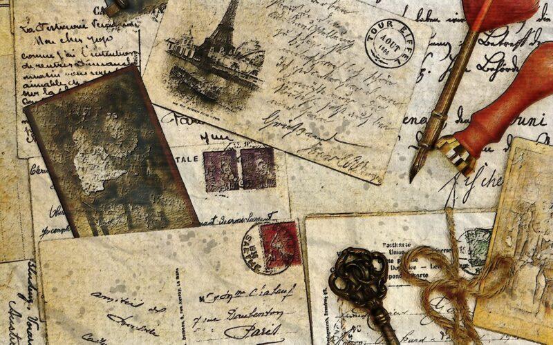 memória de trabalho em gravuras, cartas e lembretes