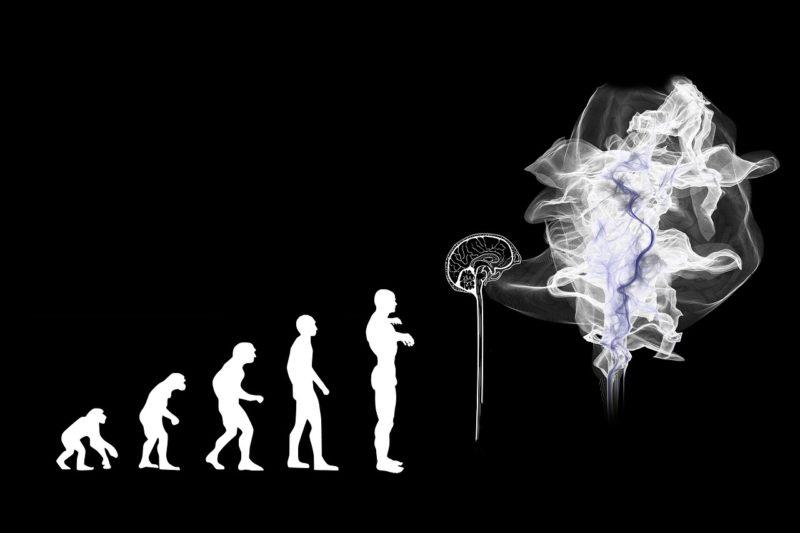 homem evoluindo até o limite da mente humana desconhecido