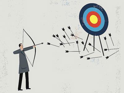 homem atirando flechas e errando o alvo