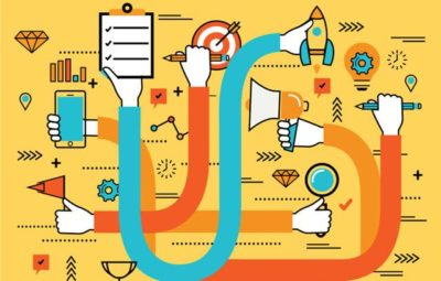 ilustração de métodos e processos para obter objetivos