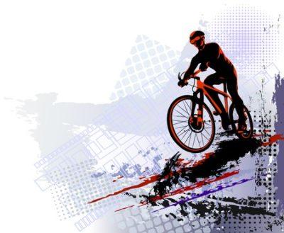 ilustração de ciclista pedalando